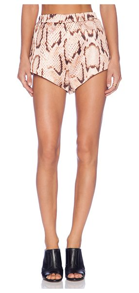MLM Label Bonded Shorts in peach - Self: 100% polyLining: 94% poly 6% spandex. Dry clean...