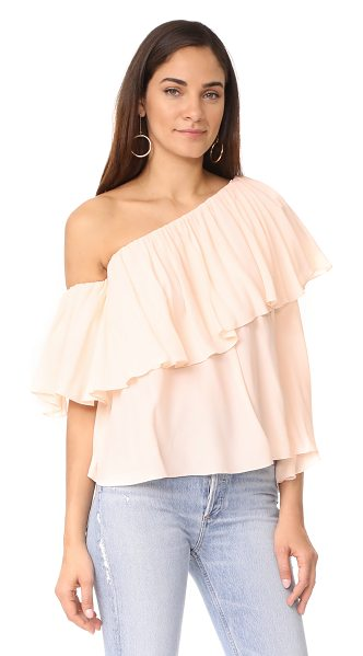 MLM Label one shoulder maison top in blush - This asymmetrical MLM LABEL off-shoulder top has a...