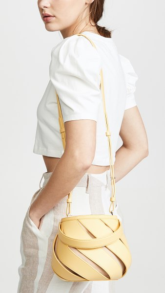 Mlouye helix bag in primrose yellow