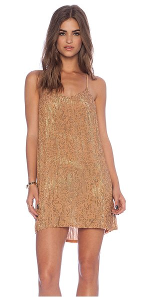 MLV Carmen sequin dress in brown - Self & Lining: 100% viscose. Dry clean only. Neckline to...