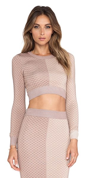 MLV Mara argyle crop top in beige - Nylon blend. Elastic stretch fit. MLV-WS2. 1102033. MLV...