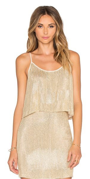 MLV Paige sequin crop top in metallic gold - Self & Lining: 100% viscose. Dry clean only. Adjustable...