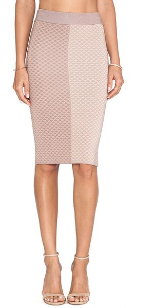 MLV Shae argyle pencil skirt in taupe