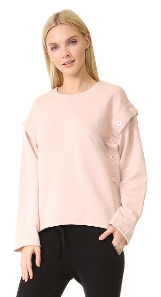 MM6 MAISON MARGIELA button convertible sweatshirt in ballerina - This slouchy MM6 sweatshirt is crafted with removable...