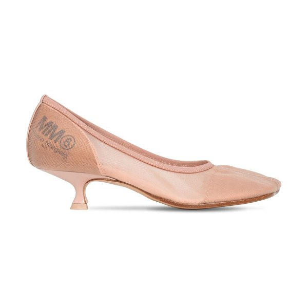 MM6 MAISON MARGIELA 40mm mesh pumps in nude