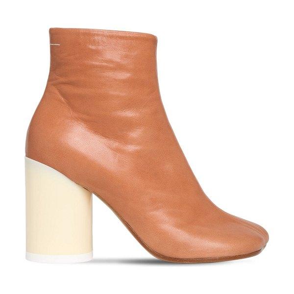 MM6 MAISON MARGIELA 90mm leather ankle boots in tan