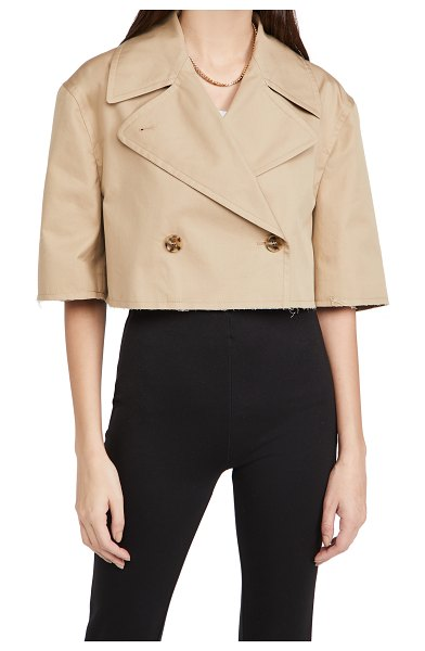 MM6 MAISON MARGIELA kaban cropped trench in beige