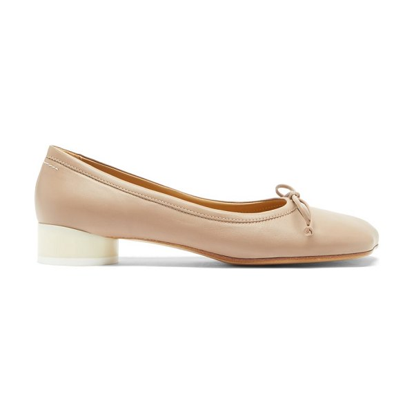 MM6 MAISON MARGIELA moulded-toe leather flats in dark beige