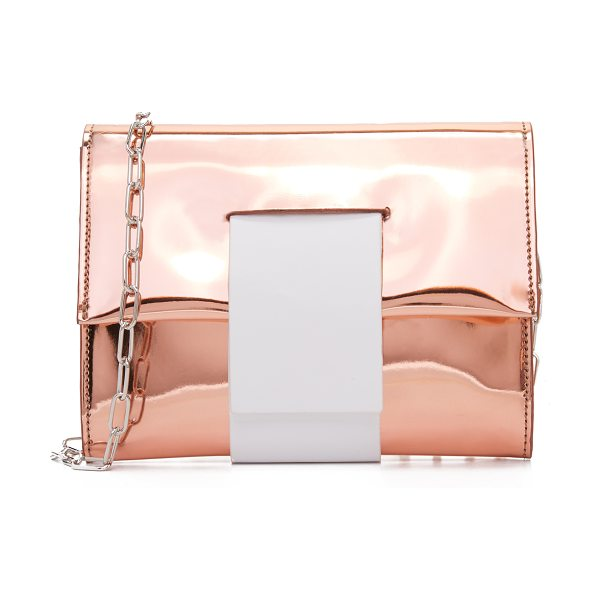 MM6 MAISON MARGIELA cross body clutch - Patent faux leather composes this striking MM6...