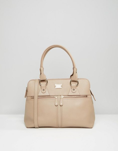 MODALU Leather Pippa Tote Bag - Cart by Modalu, Leather outer, Fully lined, Twin...