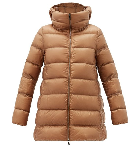 Moncler ange detachable double-layer down coat in camel