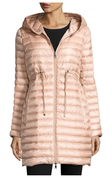 Moncler Barbel Hooded Puffer Coat in blush