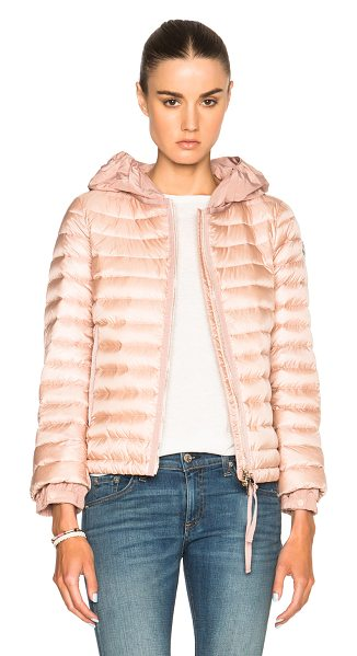 Moncler Emissole jacket in pink - Self: 100% poly - Filling: 90% down 10% feather.  Made...