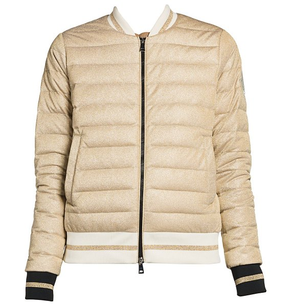 Moncler or giubbotto bomber jacket in gold