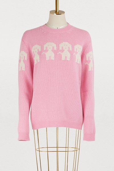 Moncler Grenoble Wool and cashmere sweater in pink