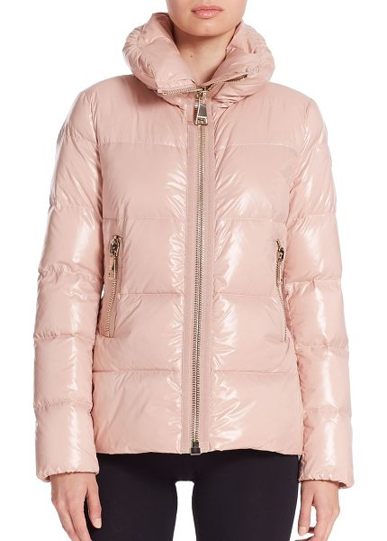 MONCLER Joux puffer jacket - The glossy quilted design and feminine shaping of this...