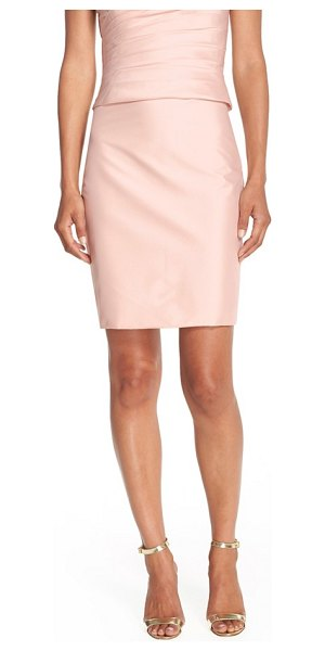 Monique Lhuillier Bridesmaids taffeta pencil skirt in blush - A glam, shimmering little skirt that goes from wedding...