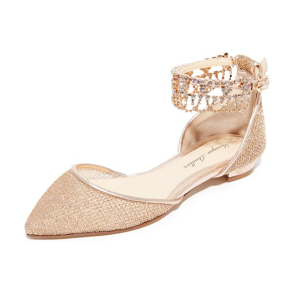 Monique Lhuillier Bridesmaids clarke point toe flats in rose gold