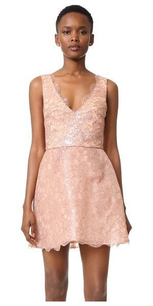 MONIQUE LHUILLIER BRIDESMAIDS sleeveless structured dress in rose gold - This elegant Monique Lhuillier mini dress is made from...