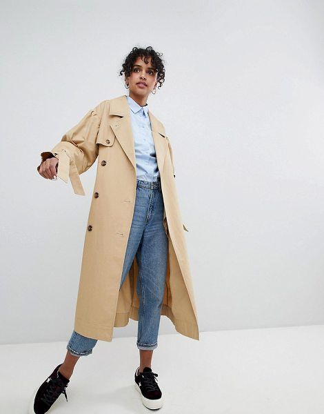 Monki classic trench trench press collection in beige - Trench by Monki, It's the return of the mac, Notch...
