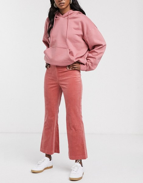 Monki flared cropped pants in pink in pink