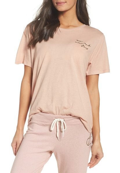 Monrow oversized crewneck tee in cheeky pink - A soft and slouchy cotton tee gets a flash of celestial...