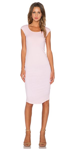 Monrow Permanent Collection Cap Sleeve Dress in pink - 90% cotton 10% spandex. Unlined. Stretch fit....