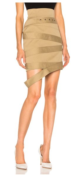Monse Cotton Canvas Skirt in brown,neutrals - Self & Lining: 100% cotton.  Made in Italy.  Dry clean...