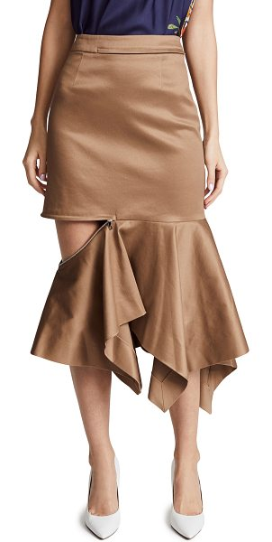 Monse zip trumpet skirt in khaki