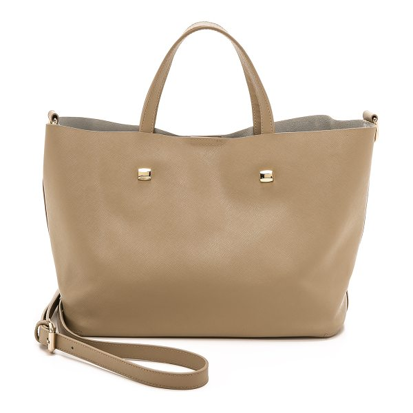 MONSERAT DE LUCCA Saffiano docente small tote - Polished hardware lends shine to this minimalist,...