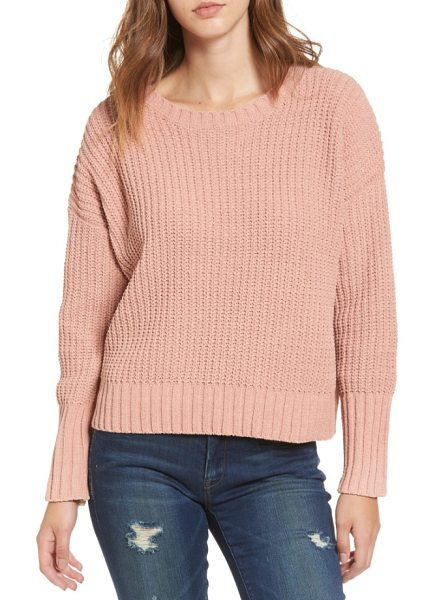 MOON RIVER drop shoulder chunky knit sweater - Styled with dropped shoulders and a slightly cropped...