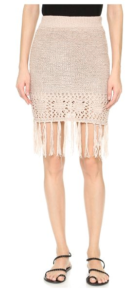 Moon River Fringe skirt in blush pink - This slinky, lightweight Moon River miniskirt has a...