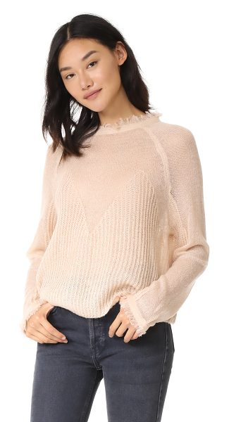 Moon River oversized fray sweater in pink - This delicate Moon River sweater has soft, frayed edges...