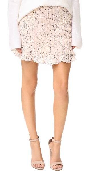 Moon River pleated skirt in pink - Crisp pleats create movement through this floral Moon...