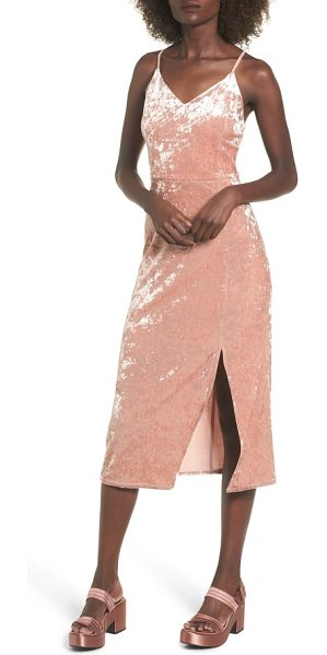 Moon River velvet midi dress in mauve - A slit-hem midi dress conjures throwback '90s allure...