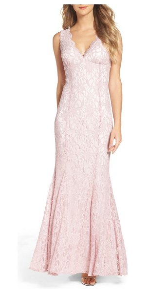MORGAN & CO. glitter lace gown - Make it an evening to remember in this luxe lace gown...