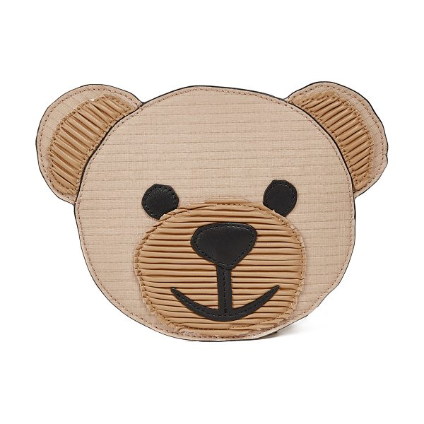 Moschino bear clutch in brown/black - A slim Moschino clutch in the shape of a teddy bear...