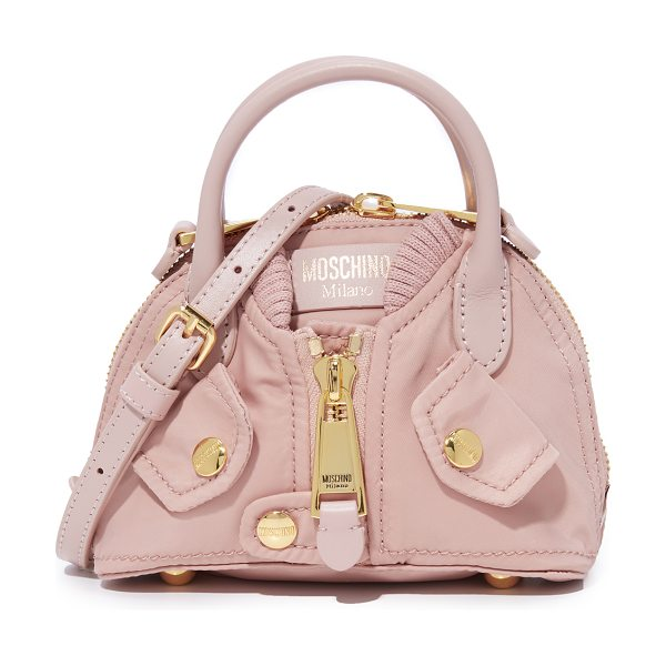 Moschino shoulder bag in light pink - A petite Moschino bag shaped to look like a bomber...