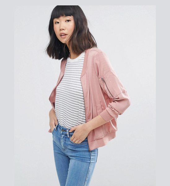 "Moss Copenhagen Bomber Jacket in pink - """"Jacket by Moss Copenhagen, Soft-touch woven fabric,..."