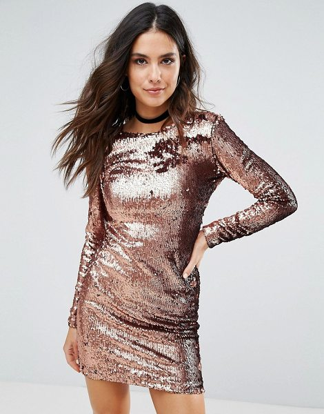"Motel Gabby Sequin Dress in copper - """"Evening dress by Motel, Sequin-embellished fabric,..."