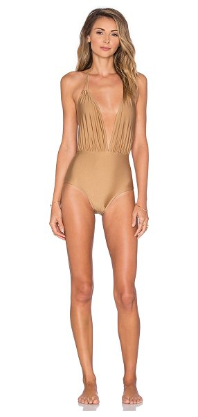 Motel Jagger one piece swimsuit in tan - Shell: 80% poly 20% elastaneLining: 100% poly. Hand wash...
