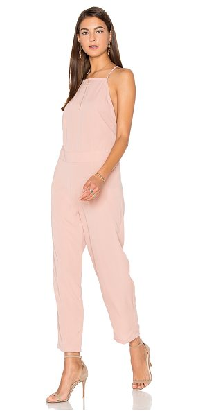 Motel Kauna Jumpsuit in blush - 100% viscose. Hand wash cold. Back button closure. Back...
