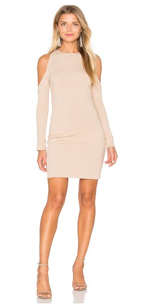 Motel Marsha Dress in nude - 94% poly 6% elastan. Unlined. Shoulder cut-outs....