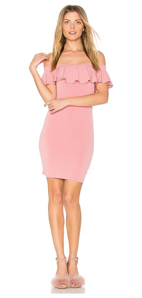 Motel Nolla Dress in rose - 90% poly 105 elastane. Hand wash cold. Unlined. Elastic...