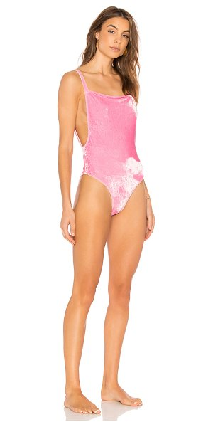 Motel Valeo Swimsuit in pink - Self: 95% poly 5% elastaneLining: 100% poly. Hand wash...