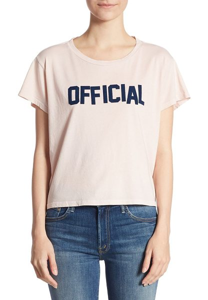MOTHER crop goodie official cotton tee - Cropped cotton tee featuring a typographical design....