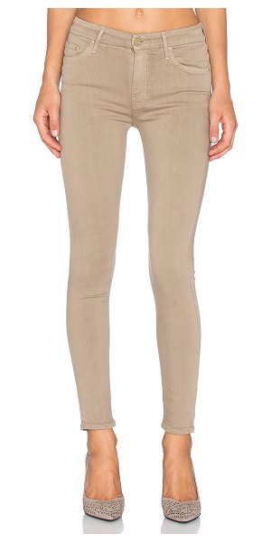 Mother Just for kicks high waist looker in taupe - 43% viscose 33% cotton 17% tencel 5% poly 2% elastane....