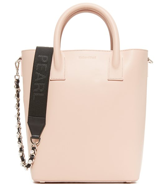Mother Of Pearl hoxton mini tote in pink - A smooth calfskin Mother of Pearl tote with a...