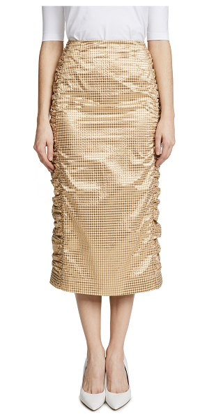 MOTHER OF PEARL idella skirt - Fabric: Gingham Check pattern Pencil skirt Midi length...