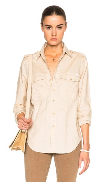 Mother The cadet top in neutrals - 100% cotton.  Made in USA.  Button front closures. ...